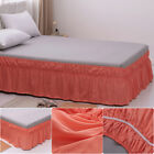 14'' 16'' 18'' Drop Bed Skirt Twin Queen King Size Dust Ruffle Wrap Around Bed