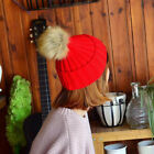 Winter Outdoor Adult Kids Matching Pompom Beanie Solid Knitted Cap Hat Code