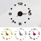 USA Modern Large Wall Clock 3D Mirror Sticker Unique Big Number Watch DIY Decor