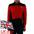 Star Trek The Next Generation Picard Red Shirt Cosplay Starfleet Top Uniform Pin on eBay