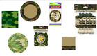 Camouflage, Army, or Military Birthday Party Decorations Balloons, Plates, ext