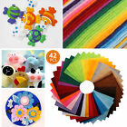 42/84x Non-Woven Polyester Sheet Cloth DIY Crafts Felt Fabric Sewing Accessories
