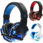 3.5mm Gaming Headset LED Headphone With Mic For PS4 Switch Laptop Gamer/Adapter