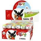 Box of 36 or 6 Girls Boys Bing Bunny Bubbles Party Bag Stocking Fillers Toy