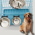 Stainless Steel Cage Coop Cup Bolt Clamp Hanger Bird Dog Puppy Crate Bowl #den02