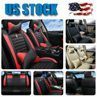 PU Leather Car SUV Seat Cover Full Protector + Cushions 5-Seats Universal Deluxe $109.99 USD on eBay