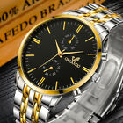 Fashion Military Mens Stainless Steel Wrist Watch Business Analog Quartz Watches image