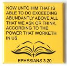 Ephesians 3:20 FRIDGE MAGNET bible verse christian catholic