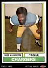 1974 Topps #416 Russ Washington Chargers Mizzou 8 - NM/MT $2.85 USD on eBay