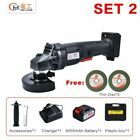 Cordless Angle Grinder 20V Lithium-Ion 6000mAh Grinding Machine Cutting Electric