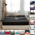 16'' Extra Deep Bed Fitted Sheet Bottom Sheet Elastic Microfiber Full Queen Size image