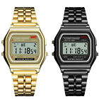 Classic F-91W Watch Men Luxury Classic Gold Silver black Color stainless  image