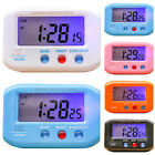 LED Alarm Clock Table Backlight Night Light Snooze Digital Calendar Travel Home