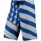 Los Angeles Dodgers Diagonal Flag Boardshorts Royal/Gray Small to X-Large on Ebay