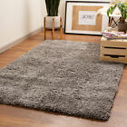 Designer Fluffy Shag Rug Thick Modern Solid Geometric Rugs Runners Mats