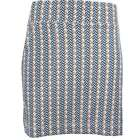 Page & Tuttle Wishbone Print Skort  Casual   Shorts - Navy - Womens