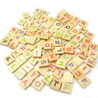 100Pcs Wooden Letter Number Scrabble Blocks Kids Educational Toy Sanwood