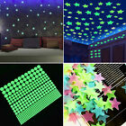 200 400pcs glow in the dark plastic fun ceiling wall art luminous space stickers