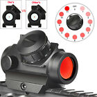Red Dot Sight Reflex Green Holographic Sights Scope Tactical Mount 20mm Rails US