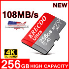 KRECOO 256GB Micro Memory Card 108MB/S 4K Class10 Flash TF Card with Adapter US