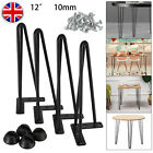 4pcs Hairpin Table Legs 2/3 Prong 10mm 8* 12* 16* 28* Furniture Table Desk Bench