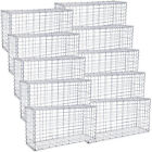 SONGMICS Gabion Stone Basket Wire Dia 4 mm Mesh 100x50 x30 cm Fench Galvanized
