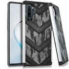 Hybrid Slim Case For Samsung NOTE 10 / 10 PLUS Phone Cover - GRAY CAMO BADGE
