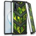 Hybrid Slim Case For Samsung NOTE 10 / 10 PLUS Phone Cover - GREEN CAMO BADGE