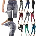 Women High Waisted Skinny Jeans Jeggings Leggings Slim Stretchy   Pants Trousers