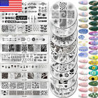 Nail Art Stamping Plates Flower Geometry Theme Image Stamp Templates $6.99 USD on eBay