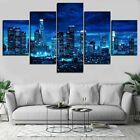 Los Angeles Skyline At Night 5 panel canvas Wall Art Home Decor Print Poster on Ebay