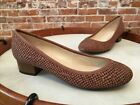 Isaac Mizrahi Kerry Brown Snake Embossed Leather Pumps NEW