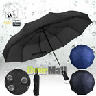 42' Large Umbrella Men/Women Three Folding Anti-UV Windproof Big Rain Umbrella