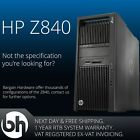 Configurable HP Z840 Up to 2x 14-Core/3.50GHz, 128GB DDR4, SSD & HDD Workstation