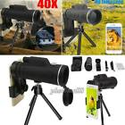 Monocular 40X60 Zoom Optical HD Lens Telescope Clip w/ Tripod Kit For Cell Phone