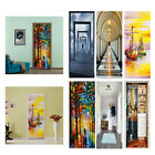 3d Door Wall Sticker Decal Self-adhesive Mural Scenery Fabric Home Decor Pvc