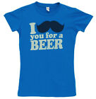 I Mustache You For A Beer Funny Juniors Babydoll T-Shirt Tee
