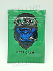 Keep Calm Beast Mylar Resealable Smell Proof 3.5g Bags | USA Free Shipping