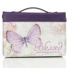 Blessed, Butterfly Bible Cover: Jeremiah 17:7, Purple, Book Cover, Med. & Large