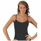 Womens Vest Tops 100% Cotton Sleeveless Strappy Tank Tops Size UK 8-22