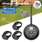 Wireless Electric Dog Fence For 1/2/3 Dog Pet Containment System Shock Collar US