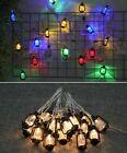 Battery Plug USB String Light Vintage Retro Water Oil LED Lamp Home Garden Decor