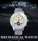 Stainless Steel Date Tourbillon Automatic Mechanical Men Watch Skeleton Gift US image