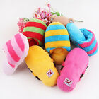 Dog Cat Toy Pet Puppy Chew Play Squeaker Squeaky Sound Plush Slipper Shape RC