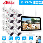 ANRAN Security Camera System With 12inch monitor Home Wireless 4 6 8PCS 2TB HDD