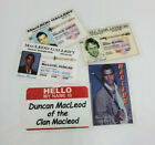Highlander TV Series ID Badge. Your choice. Great for Cosplay or Costumes