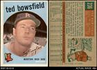 1959 Topps #236 Ted Bowsfield Red Sox 4 - VG/EXBaseball Cards - 213