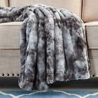 Xmas Gift Multi-Color Faux Fur Bed Throw/Twin Blanket Super Soft Fuzzy Cozy Warm