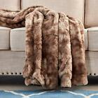Xmas Gift Multi-Color Faux Fur Bed Throw/Twin Blanket Super Soft Fuzzy Cozy Warm image