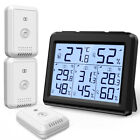 Digital LCD Thermometer Hygrometer Home Outdoor Temperature Humidity 1/3 Sensor